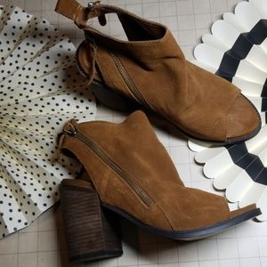 Dolce Vita Peep Toe Booties Leather size 8